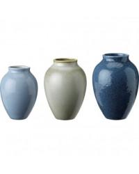 Knabstrup Vasesæt 3-pak Blå/Grå