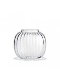Holmegaard Primula Oval Vase H17,5 Klar
