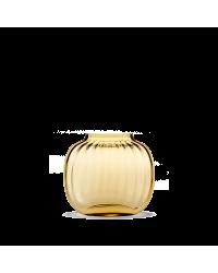 Holmegaard Primula Oval Vase H12,5 Amber