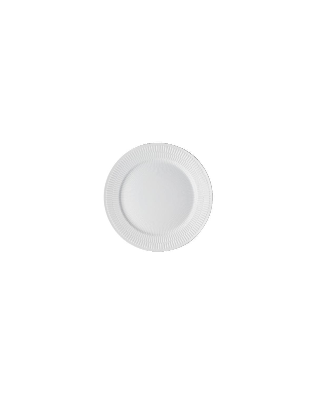22 cm. Hvid Riflet frokosttallerken