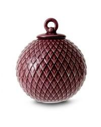Lyngby Porcelæn Rhombe Kugle Ø7 cm. Bordeaux